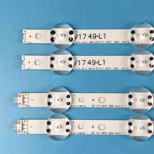 Image 2 - 4 قطعة LED شريط إضاءة خلفي ل LG 49 TV 6916L 2862A 6916L 2863A V17 49 R1 + L1 ART3 49UJ670V ZD 49UJ651V LC490DGG(FK)(MD)