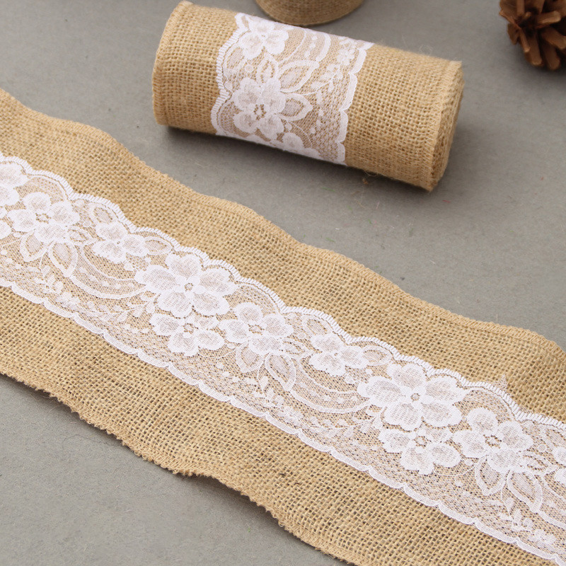 Ttlife Jute Cloth Washable Waterproof Tablecloth Tassel Lace