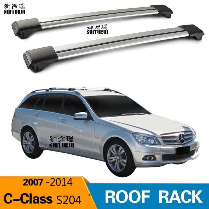 UKB4C Roof Rack Cross Bars fits Mercedes C-Class W204 2007-2014 Coupe W205 2014-2016