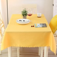 Solid color tablecloth rectangular tablecloth, round table square cloth