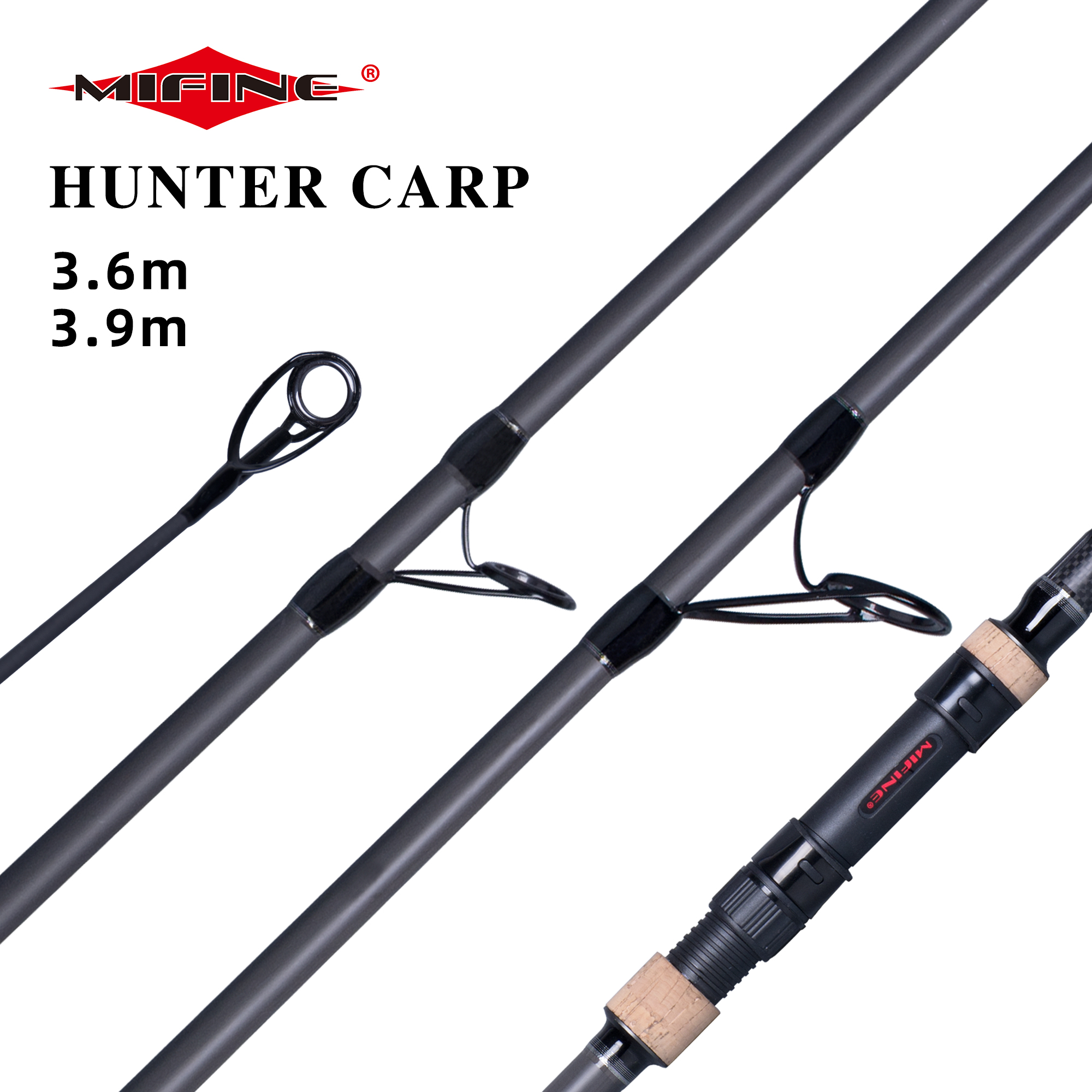 MIFINE SAKANA HUNTER CARP Fishing Rod 3.0/3.5/4.0lbs 3.6/3.9m High Carbon Surf Spinning Casting Hard Throwing shot to about 150M title=