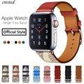 Браслет для Apple watch 5  ремешок из натуральной кожи для Apple watch 4  3  2  1  44  40  44 мм  40 мм
