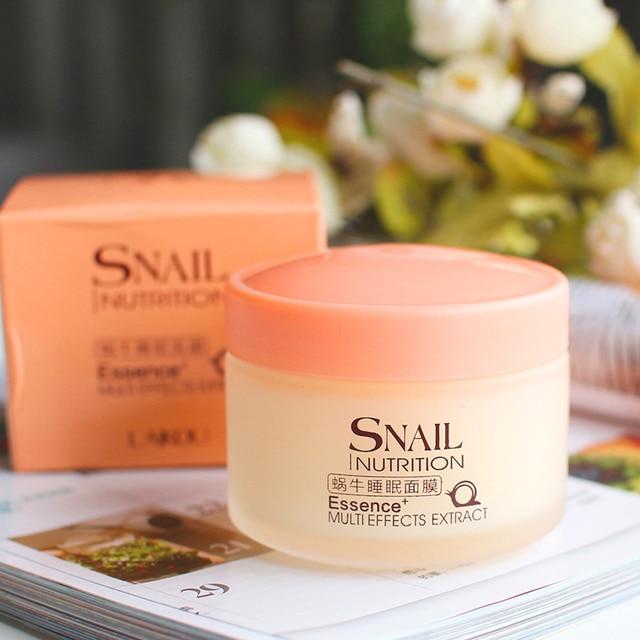 LAIKOU Snail Sleeping Mask Korean Cosmetics Face Treatment  Moisturizing Eyes Nourish Oil control Whitening  Night Cream 3
