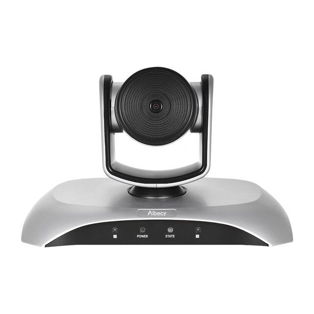 Aibecy caméra de conférence vidéo 1080P FHD USB, Plug Play, balayage automatique à 360 °, avec télécommande à infrarouge