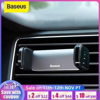 Baseus-Soporte de teléfono móvil Universal para coche, soporte para teléfono móvil, soporte para salida de aire