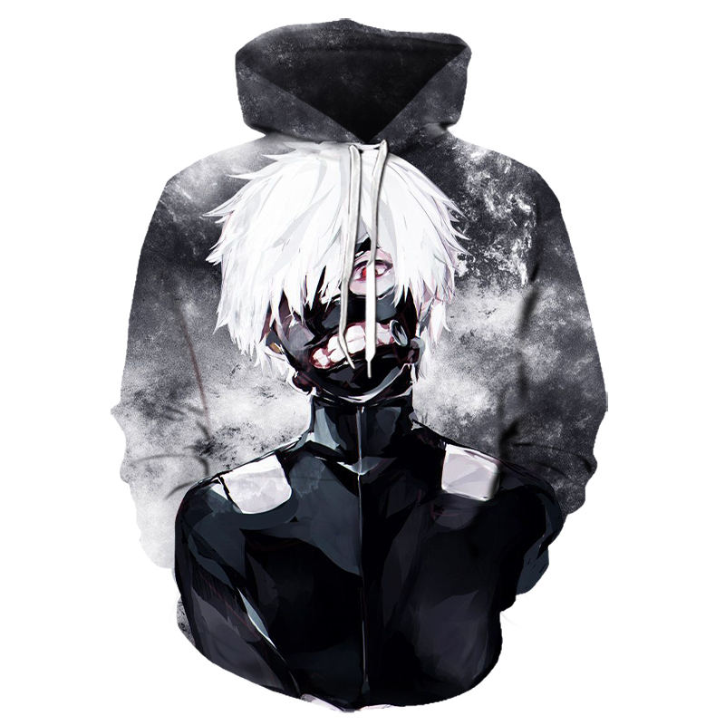 Funny 3d Hoodies Tokyo Ghoul Hoodies Men Blood Hoody Casual Ken Kaneki Hoodies Tops Print Japan Anime Clothing Cosplay Printed