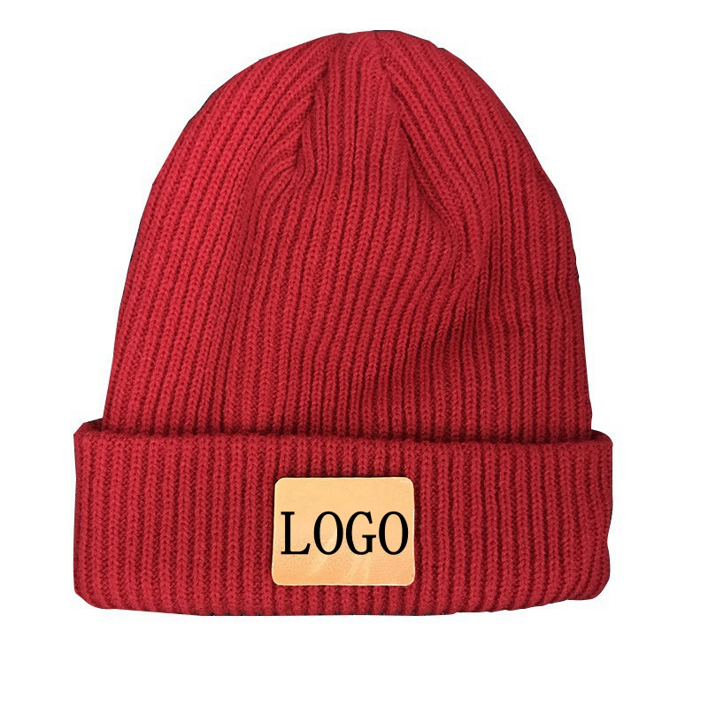 WZCX 2019 New Customize Print LOGO Solid Color Fashion Beanie Letter Name Stripe Keep Warm Unisex Knitted Hat Adult Cap