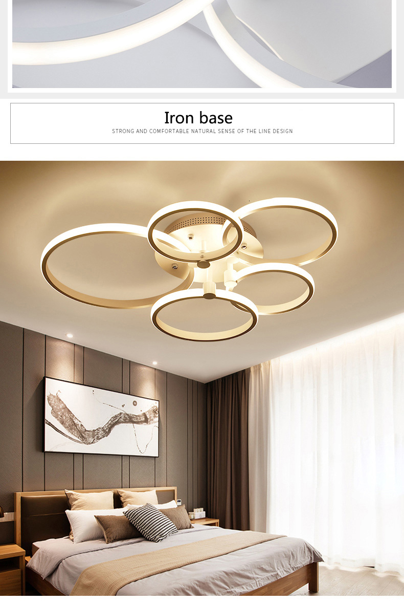 H72f043a25a8a4ae2b3ae78fd94b6f06aq Surface mounted modern led ceiling lights for living room Bed room light White/Brown plafondlamp home lighting led Ceiling Lamp