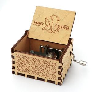 Прямая поставка деревянная резная музыкальная шкатулка ручной работы тема Поттера музыкальная шкатулка подарок на день рождения Рождественский подарок коробка подарок