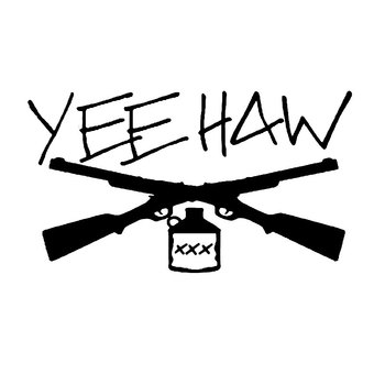 Interesting Yee Haw Guns Moonshine PVC 15cm X 9cm Car Sticker Accessories Car Window Decoration Door Body Decal image