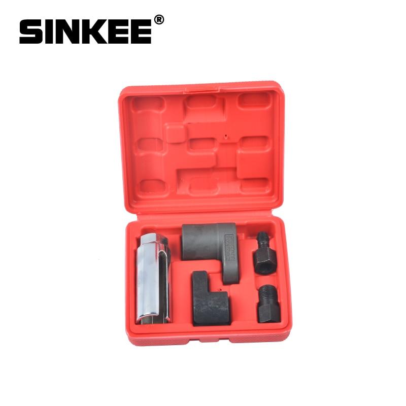 5 PC 22mm Oxygen Vacuum Lambda Sensor Remove Socket Set Kit Thread Chasers  Spark Plug Car Tools SK1205
