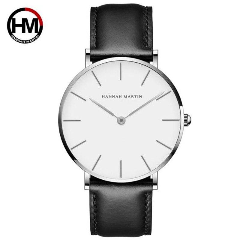 High Quality Rose Gold Dial Watch For Man Women Waterproof Leather Wristwatch Mens Dress Japan Quartz Movement Saat Dropshipping