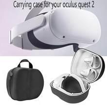 Eva difícil viagem saco de armazenamento para oculus quest 2 vr fone de ouvido portátil conveniente caso de transporte vr fone de ouvido controladores acessórios