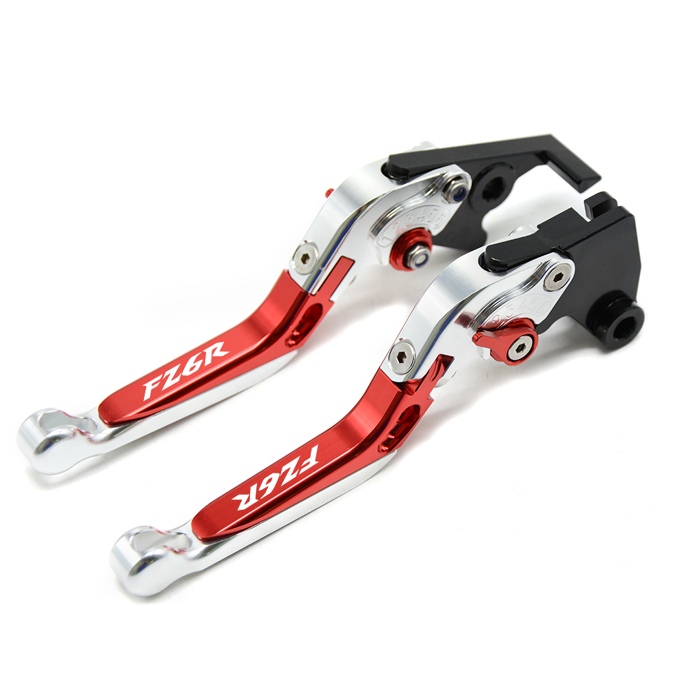 Motorcycle <font><b>Accessories</b></font> Adjustable folding CNC Motos Brake Clutch Levers FOR <font><b>YAMAHA</b></font> FAZER600 FZ6S/<font><b>FZ6N</b></font> FZ6R 2004-2010 With Logo image