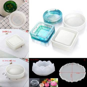 1pcs Mold Ashtray Coaster Flexible Silicone Epoxy ResinCraft Clay Resin Molds Plaster
