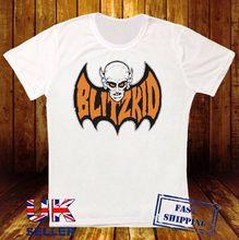 Blitzkid adolescente pipistrello di marca nuovo bianco t camisa 405