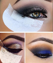 Protectores de sombra de ojos desechables, 100 Uds./50 pares, debajo de los parches de ojos, sombra de ojos, Protector de maquillaje, pegatinas de almohadilla, aplicación de maquillaje de ojos