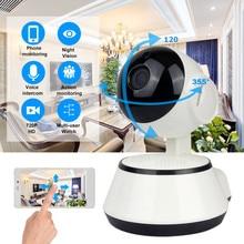 цена на LESHP Baby Monitor Mini IP Camera 720P HD 3.6mm Wireless Smart WiFi Baby Camera Audio Record Surveillance Home Security Camera