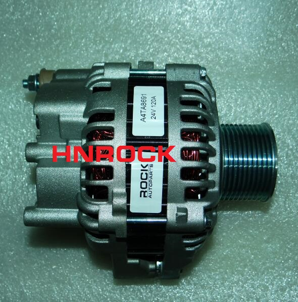 NEW HNROCK 24V 120A ALTERNATOR A004TA8391 A004TA8691 A004TA8691AM A4TA8391 A4TA8691 A4TA8691AM FOR VOLVO