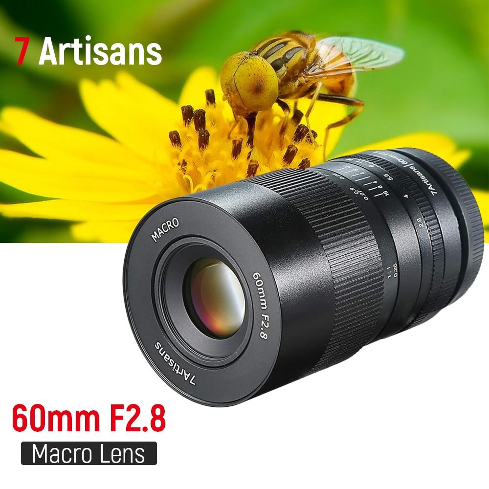 7 artigiani 60 millimetri f2. 8 1:1 Manuale di Messa A Fuoco Macro Lens APS-C per Canon EOS M50 M6 Sony E Mount M4/3 GH5 Fuji x-mount Della Fotocamera Mirrorless