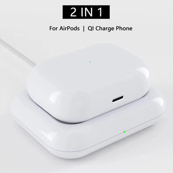 2 in 1 7.5W QI Wireless Charger Dock Station Pad Cellphones & Telecommunications