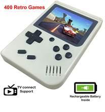 Taşınabilir 3 inç oyun konsolu 400 Retro oyunları 1 klasik 8 Bit el oyun oyuncu için LCD renkli ekran erkek hediyeler