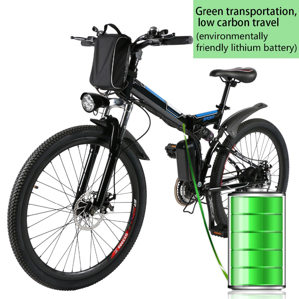 26inch 36V Foldable Electric Power Mountain Bicycle ebike with Lithium-Ion Battery Standard Type Electric Bike electric bicycle