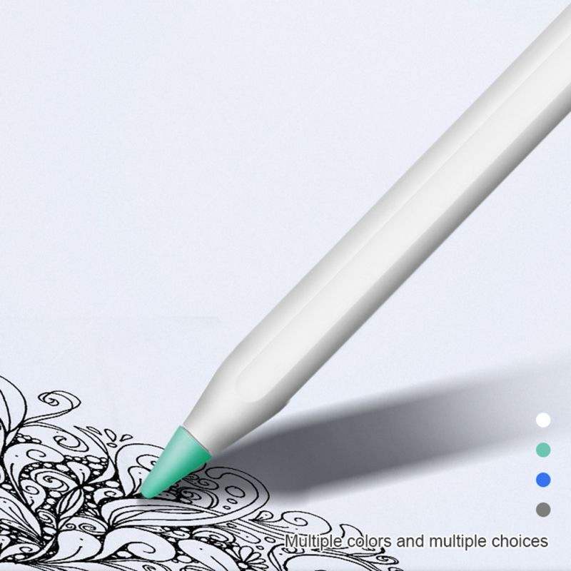 4 / 8 Pcs Writing Tip Protector For Apple Pencil Anti-slip Silent Case Cover Protection Replacement For IPad Pencil