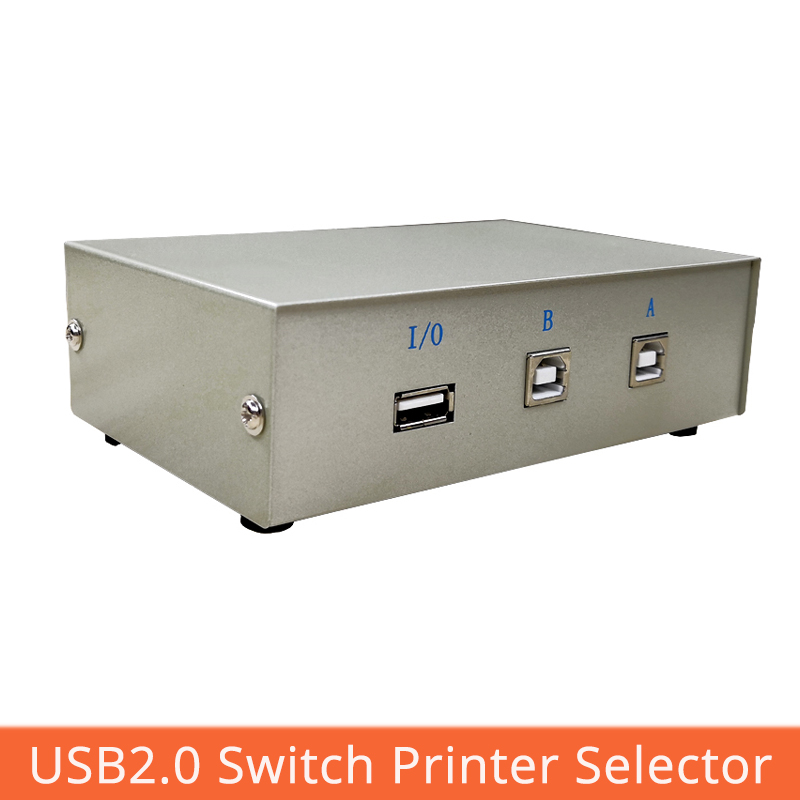 2 Port USB2.0 Switch Printer Selector Manual Button Switch Two In 1 Out Usb Computer Sharing Converte