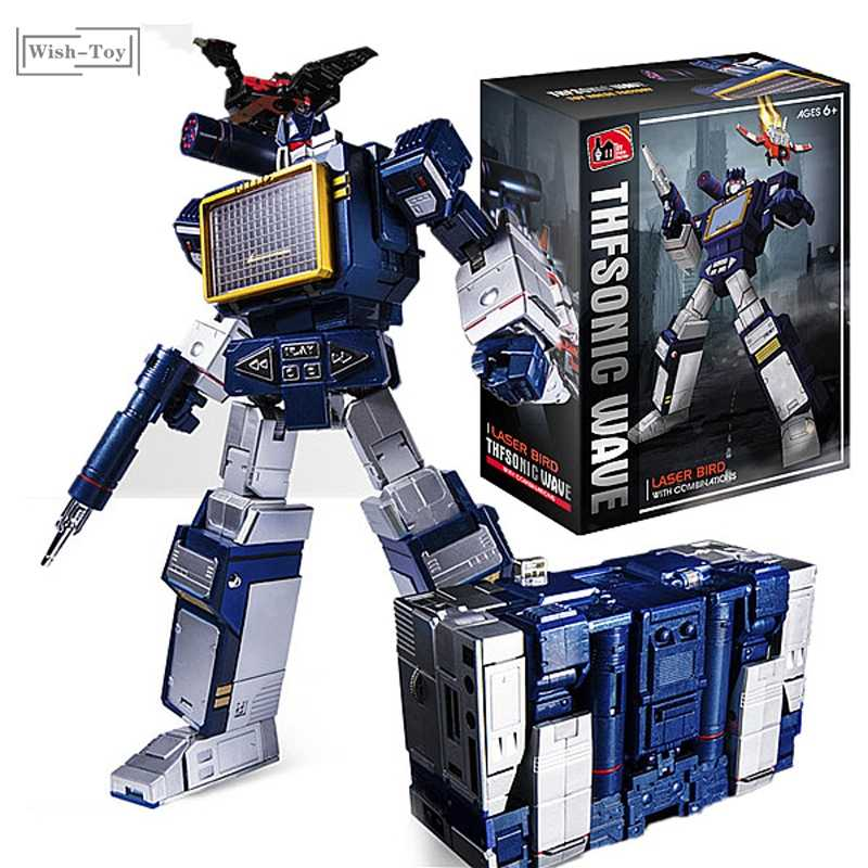 Transformation G1 THF THF01J Soundwave une bande baladeur chef-d 'œuvre KO MP13 surdimensionné 23CM alliage Action Anime Figure Robot jouets
