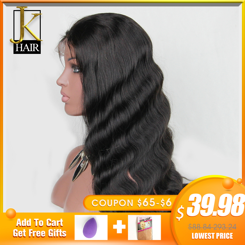 13*4 Lace Front Human Hair Wigs For Women Natural Black Remy Brazilian Body Wave Lace Wig Pre Plucked With Baby Hair  JK Elegant