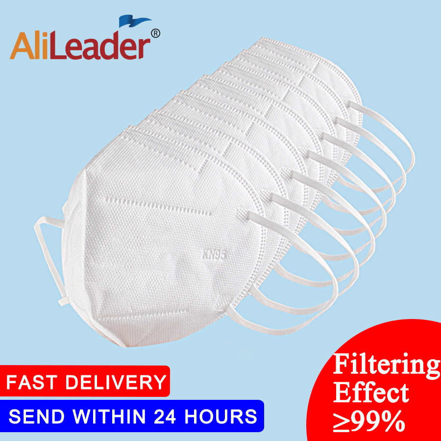 Alileader 10-100PCS Unisex Soft Mask PM2.5 Filter Anti Dust Mask Pollution Mask Non-Woven Fabric Health Care Anti-Fog Masks