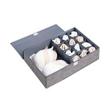 13/9 Grids Clothes Storage Box Foldable Closet Organizer For Bra Underwear Drawer Divider
