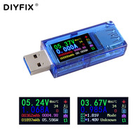 DIYFIX AT34 3 0 USB probador IPS HD Color LCD pantalla voltímetro amperímetro voltaje corriente multímetro batería carga banco de energía|Juegos de herramientas manuales| |  -