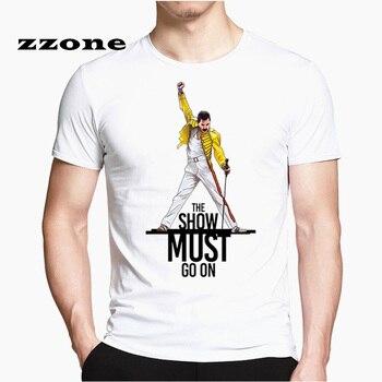 프레디 머큐리 퀸 밴드 T 셔츠 Mens 힙합 록 Hipster T 셔츠 캐주얼 Tshirts 하라주쿠 Top Tees HCP4535