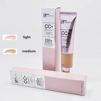 Face Concealer It CC+ Cream Illumination SPF 50 Medium Light Base Concealer Cream Full Cover Corrector Cosmetics Makeup недорого