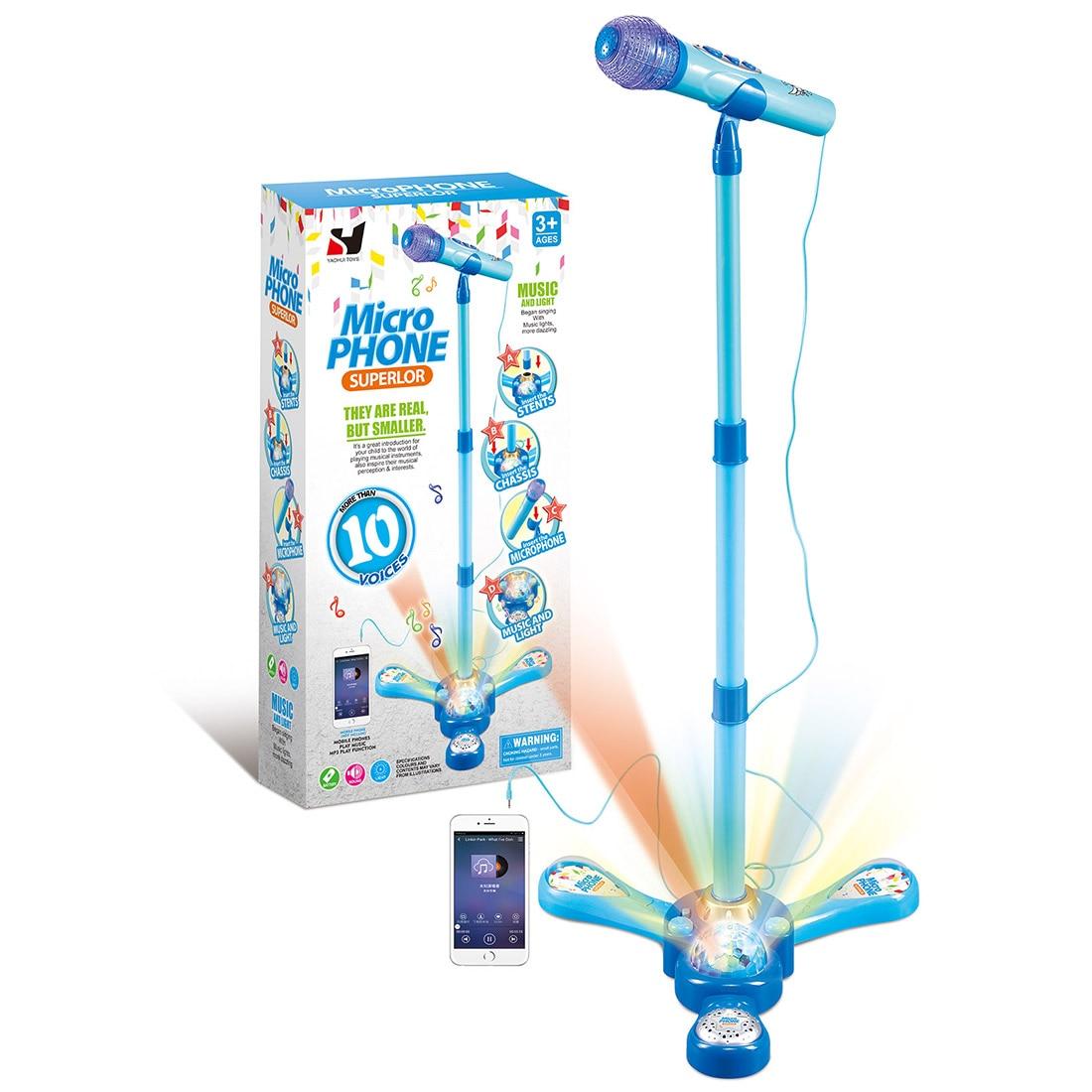 Novas crianças mini suporte tipo microfone karaoke