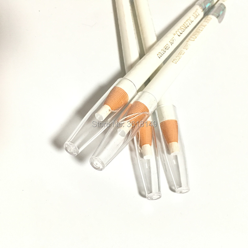 10 pcs White Waterproof Microblading Eyebrow Pencil Peel off Water Resistant 1818 Eyebrow Pencil in Eyebrow Enhancers from Beauty Health