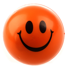 Счастливый оранжевый шар