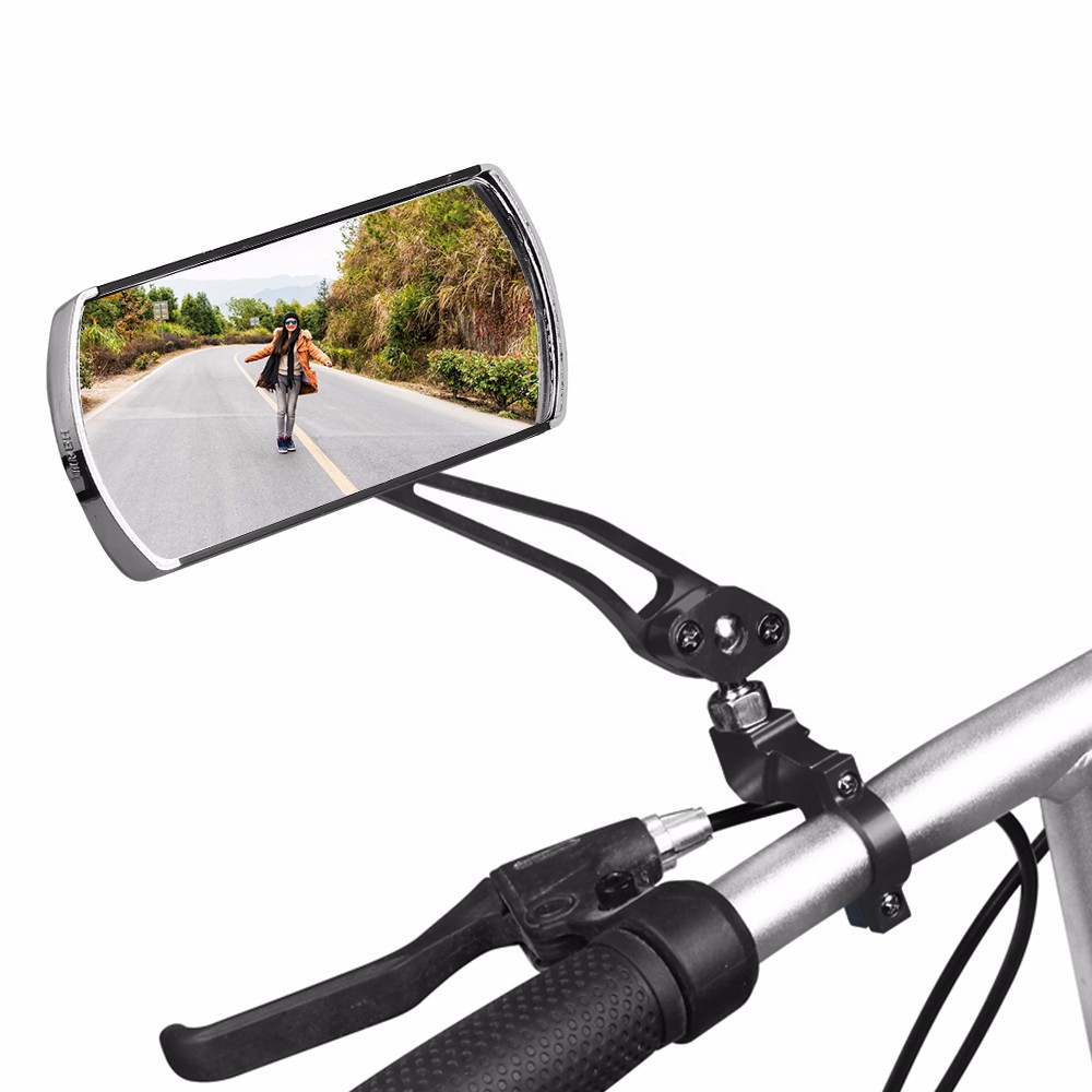2019 Bicycle Aluminum Alloy Lens Mirror MTB Handlebar Side Safety Rear View Mirror Road Bike Cycling Flexible Rearview Mirrors|Bike Mirrors| |  - title=