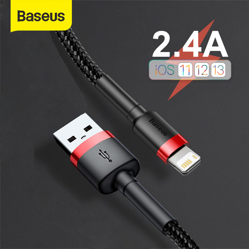 Baseus USB Cable for iPhone 11 Pro Max X XS Fast Charging Cable for iPhone SE USB Data Sync Cable Phone Charger Cable Wire Cord 1