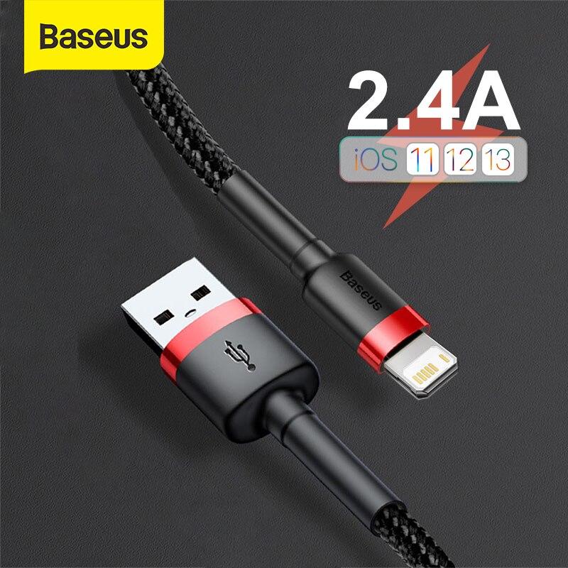 USB кабель Baseus для iPhone 11 Pro Max X XS, кабель быстрой зарядки для iPhone SE, USB кабель для синхронизации данных, зарядный кабель для телефона, провод