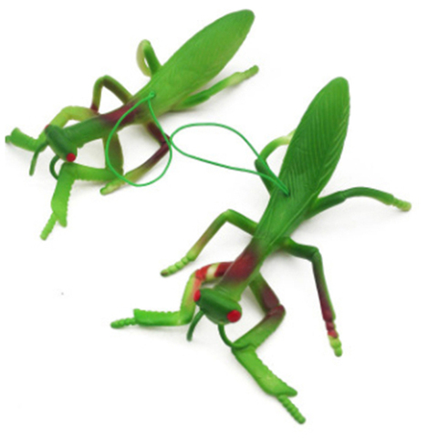 10 pcs criancas simulacao de borracha animais modelo brinquedos divertido assustador mantis complicado brincadeira brinquedos