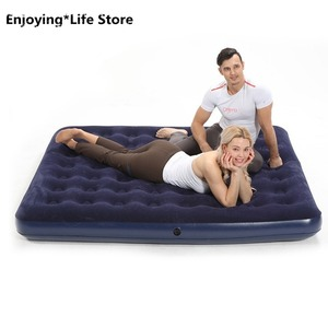 Надувная кровать с воздушным матрасом, двойная кровать для дома, Одноместный ленивый матрас, утолщенная портативная кровать для улицы