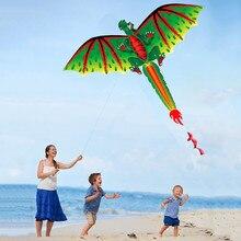 3D Дракон воздушный змей одиночная линия с хвостом воздушные змеи на открытом воздухе забавная игрушка воздушный змей семья спортивная игрушка для игр на открытом воздухе дети легко летают воздушные змеи
