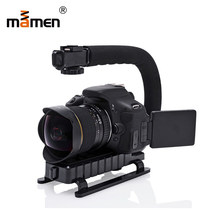 MAMEN U Grip Camera Cage DSLR Gimbal With Microphone Handheld Video Stabilizer For DSLR DV Video Vlog Shooting Photography Kits
