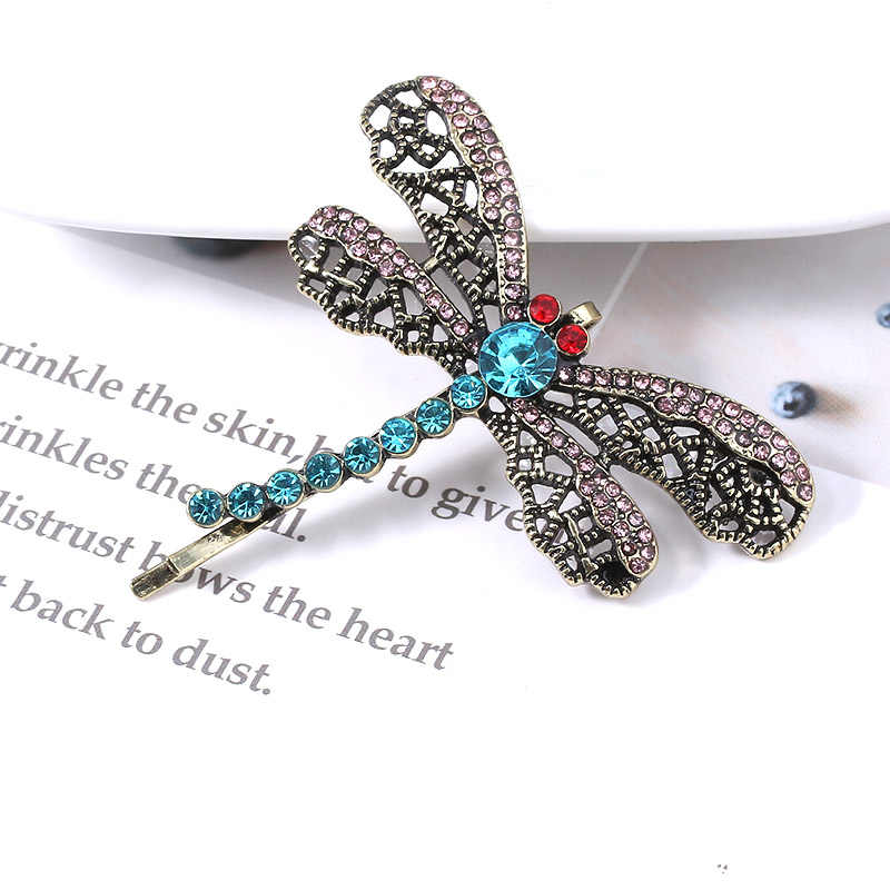 Horor Ini Film Coraline Kristal Dragonfly Bros Jepit Rambut untuk Anak Perempuan Lucu Hewan Jepit Rambut Perhiasan Hadiah Halloween