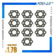 Yulii 10 pçs carburador silenciador kit junta para stihl ms 180 170 ms180 ms170 018 017 motosserra peças de reposição