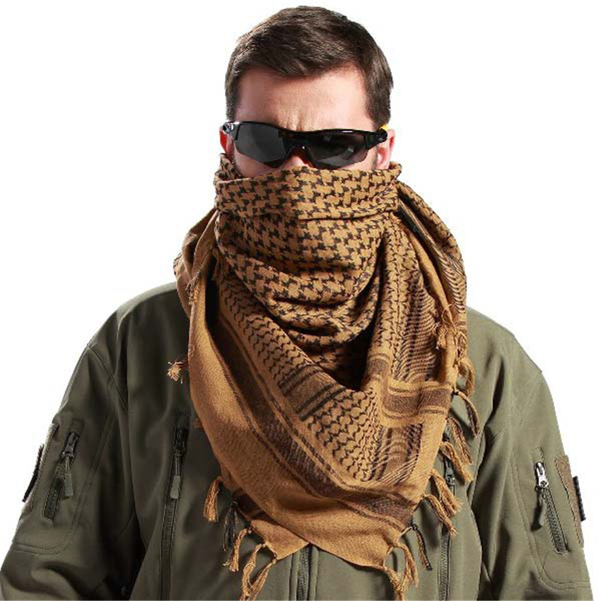 Military Uniform Tactical Scarf Outdoor Army Arab Scarf Shawl Scarve Wrap With Tassel For Men Militar Soldier Scarves 110*110CM