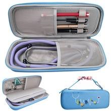 Эва жесткий корпус портативный стетоскоп коробка для хранения дорожный Чехол для переноски сумка для жесткого диска ручка медицинский Органайзер 3M стетоскоп